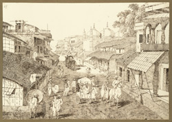 Mosque of Fakr al-Daula, Patna City (Bihar). 26 October 1824